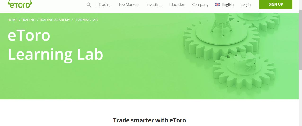 eToro review - learning lab