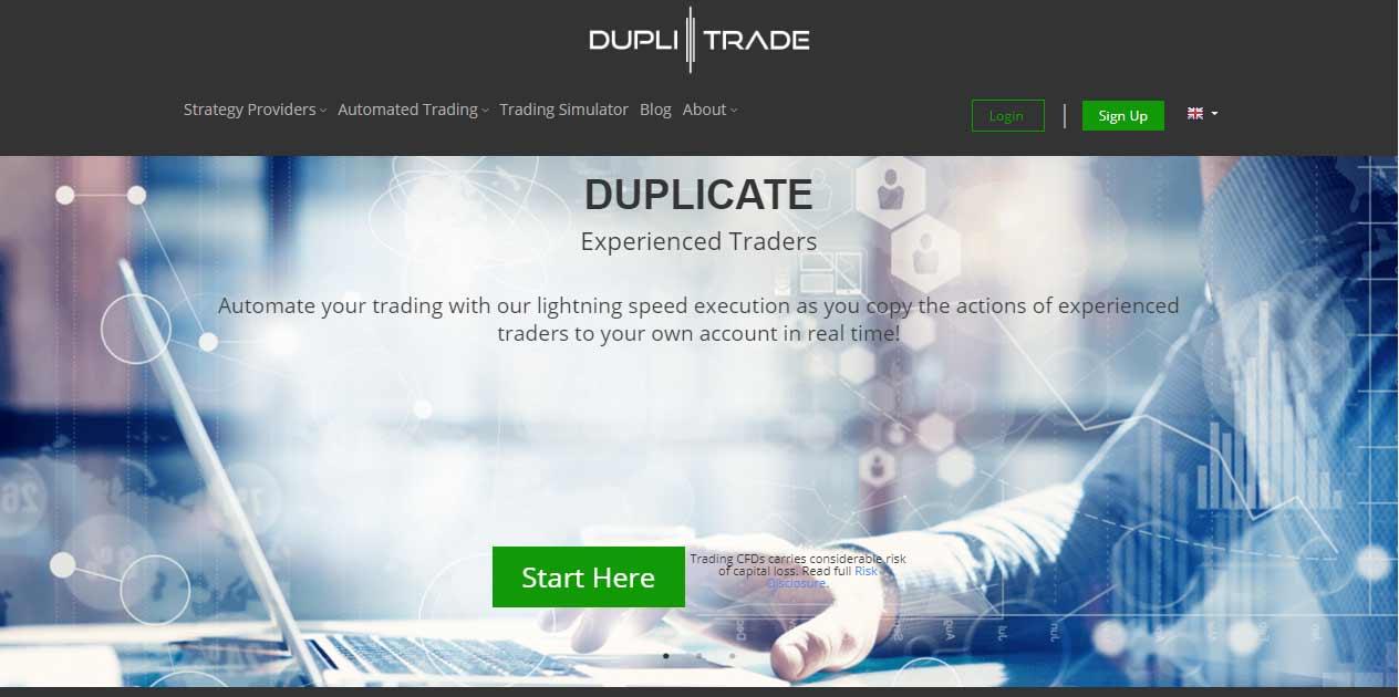 Duplitrade platform login